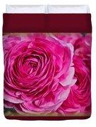 Spring Pink Roses Duvet Cover