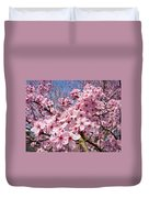 Spring Pink Tree Blossoms Art Print Baslee Troutman Duvet Cover