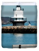 Spring Point Ledge Lighthouse Duvet Cover