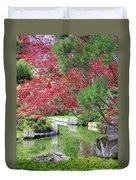Spring Pond Reflection Duvet Cover