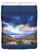 Spring Rain At Whitewater Canyon Duvet Cover