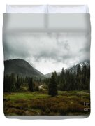 Spring Rain In The Wasatch Duvet Cover