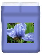 Spring Raindrops Blue Iris Flower Water Baslee Troutman Duvet Cover