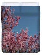 Spring Redbud Tree Duvet Cover