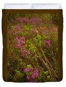 Spring Rhodora Blossoms Duvet Cover