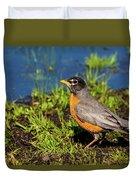 Spring Robin Duvet Cover