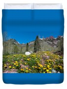 Spring Rocky Mountain Landscape Duvet Cover