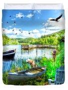 Spring Serenity At Lakeside Duvet Cover