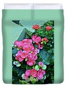 Spring Show 17 Begonias And Roses Duvet Cover