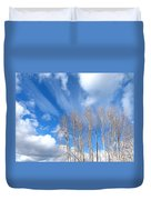 Spring Sky And Cotton Trees Duvet Cover