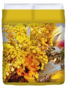 Spring Sky Bouquet Duvet Cover