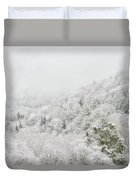 Spring Snow And Fog Highlands Duvet Cover