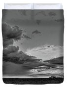 Spring Storm Front In Black And White Duvet Cover