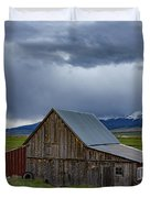Spring Storm Looms Above The Wet Mountain Valley Duvet Cover