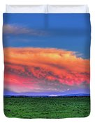 Spring Storm Over Wausau Duvet Cover