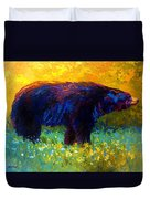 Spring Stroll - Black Bear Duvet Cover