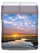 Spring Sunrise On Arcata Bay Duvet Cover