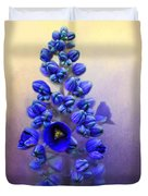 Spring Sunshine On Blue Duvet Cover
