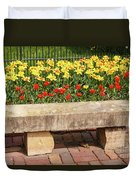 Spring Surrounds The Bench Duvet Cover