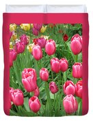 Spring Time Floral Tulips Galore Duvet Cover