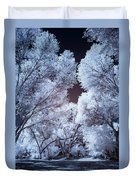 Spring Trees And Shadows Duvet Cover