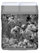 Spring Trees - B And W Duvet Cover