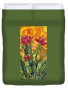 Spring Tulips Triptych Panel 1 Duvet Cover