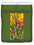Spring Tulips Triptych Panel 2 Duvet Cover