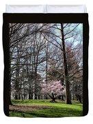 Spring Walk On Campus Duvet Cover