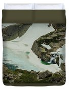 Spring Waterfall Arial Duvet Cover