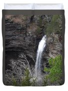 Spring Waterfall At Petit Jean Duvet Cover