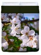 Spring White Duvet Cover
