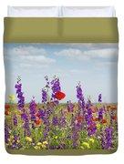 Spring Wild Flowers Meadow Duvet Cover