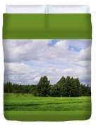 Spring Windy Day On Green Field Duvet Cover