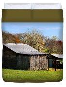 Spring Woods And Barn Duvet Cover