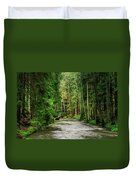 Spring Woods Greenery Duvet Cover