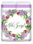 Spring Wreath Duvet Cover