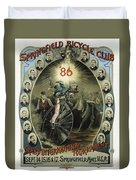 Springfield Bicycle Club 1886 Duvet Cover