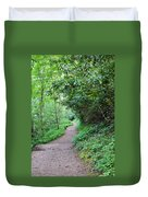 Springing Down The Path Duvet Cover