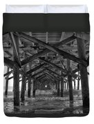 Springmaid Pier In Myrtle Beach South Carolina Duvet Cover