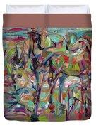 Springponies Duvet Cover