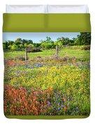 Spring's Floral Quilt Duvet Cover