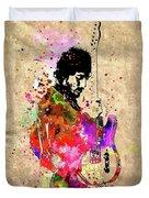 Springsteen Colored Grunge Duvet Cover