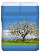 Springtime Apple Tree Panorama Duvet Cover