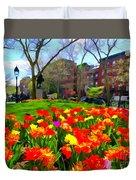 Springtime At Abingdon Square Park Duvet Cover