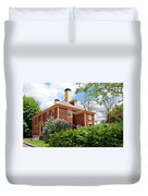 Springtime At Folsom Tavern Duvet Cover by Wayne Marshall Chase