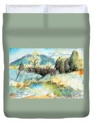 springtime at Fred Baca Park in Taos, NM Duvet Cover