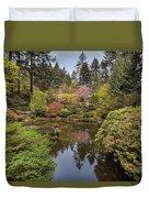 Springtime At Portland Japanese Garden Duvet Cover