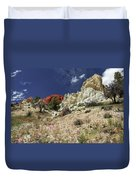 Springtime At Red Rock Canyon Duvet Cover