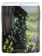 Springtime At The Cabin Duvet Cover